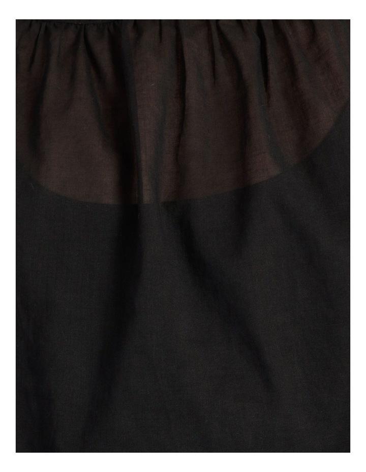 Long Sleeve Smocking Blouse Black image 6