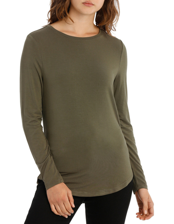Tee With Crewneck Rounded Hem Detail Fitted PW18003/P image 1