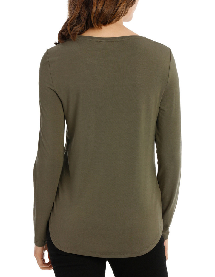 Tee With Crewneck Rounded Hem Detail Fitted PW18003/P image 3
