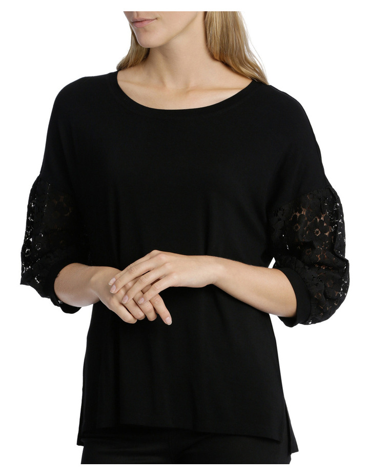 Tee with Lace Sleeve image 1