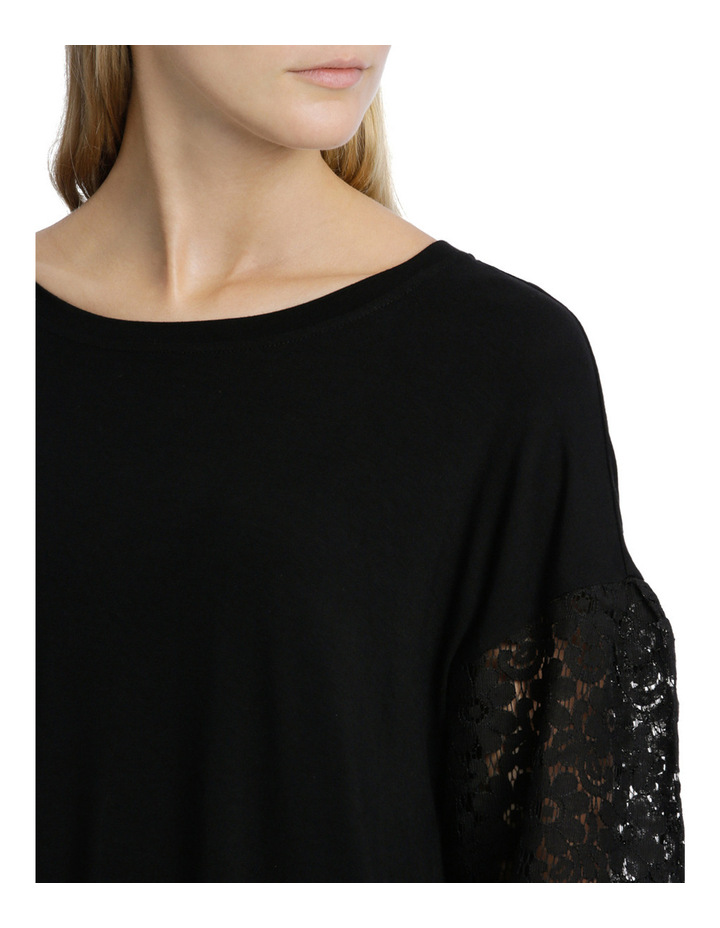 Tee with Lace Sleeve image 4
