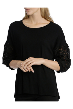 Piper Petites - Tee with Lace Sleeve
