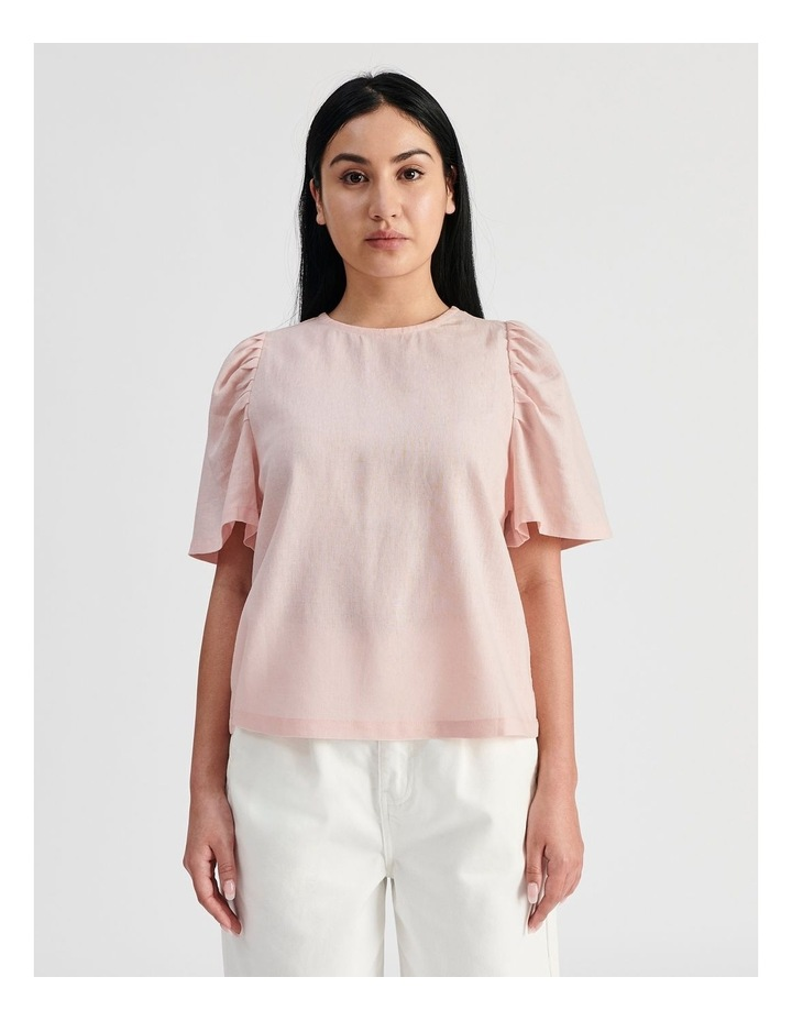 Linen Puff Sleeve Top image 1