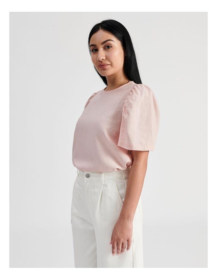 Linen Puff Sleeve Top image 3