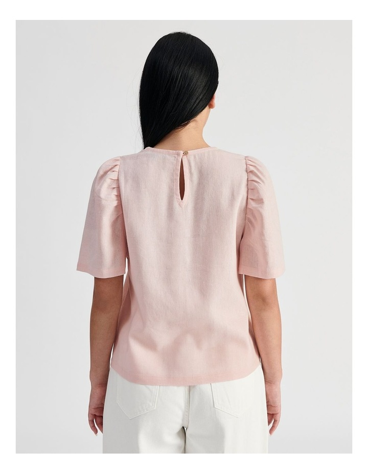 Linen Puff Sleeve Top image 4