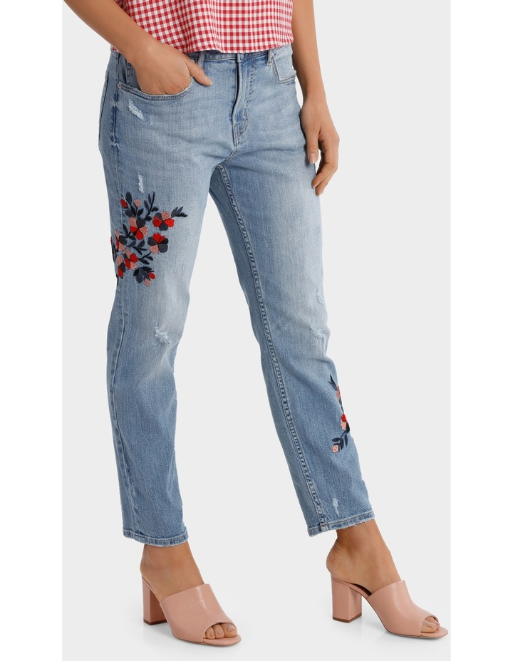 Jean Boyfriend Style with Embroidery image 2