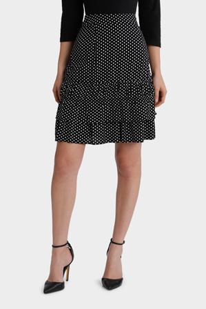 Piper Petites - Skirt double ruffle spot small
