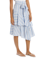 Piper Petites - Skirt Multi Ruffles Stripe