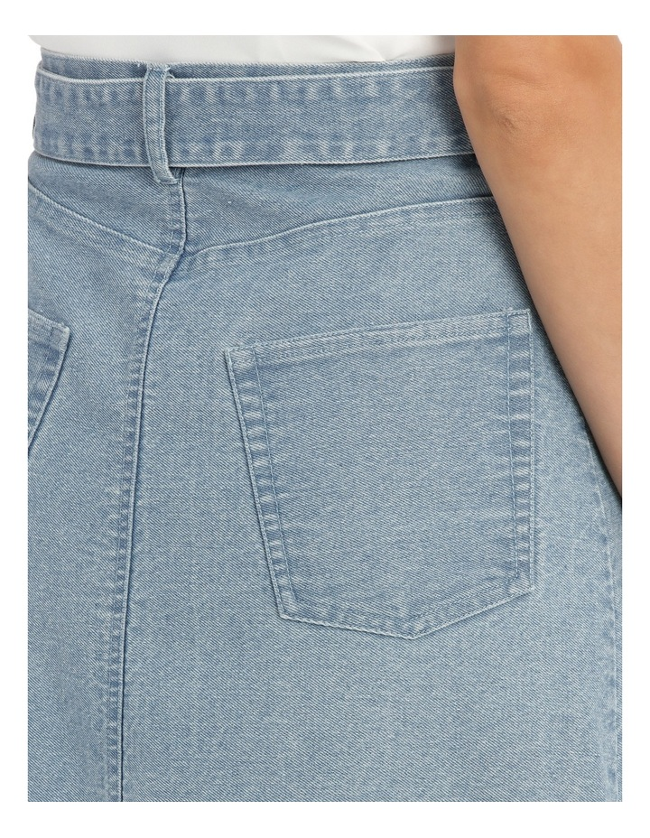 Skirt Denim mid length image 4