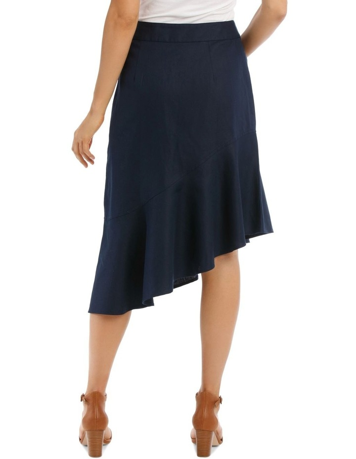 Asymmetrical Skirt With Side Button Detail image 3