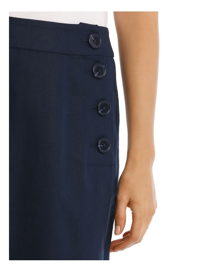 Asymmetrical Skirt With Side Button Detail image 4
