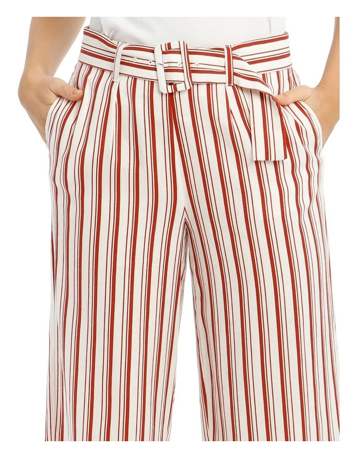 Full Length Straight-Leg Pant With Belt And Buckle image 4