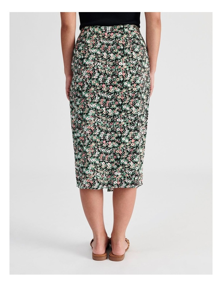 Ditsy Floral Wrap Skirt With Side Tie image 3