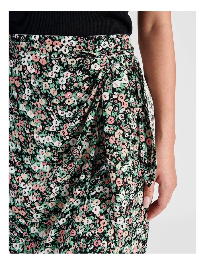 Ditsy Floral Wrap Skirt With Side Tie image 5