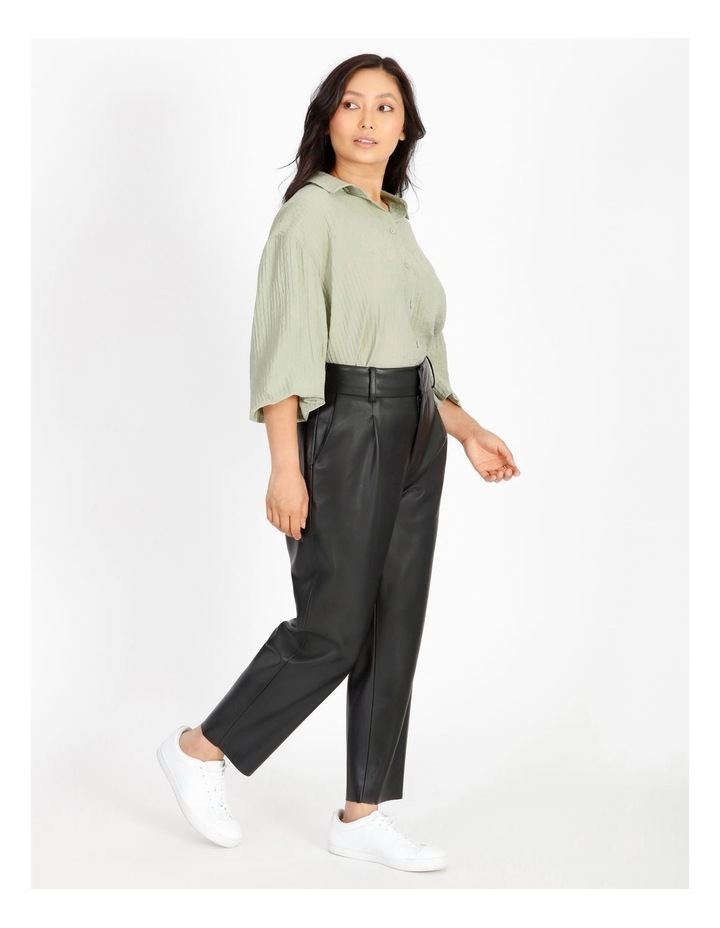 Vegan Leather Tapered Pant image 2