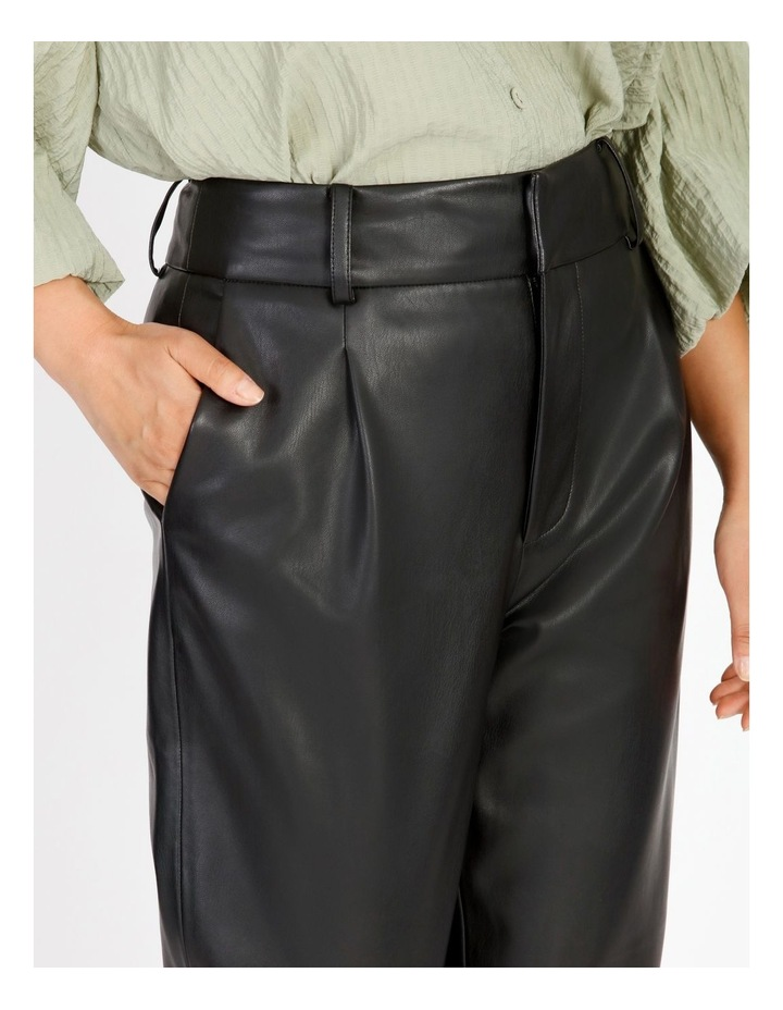 Vegan Leather Tapered Pant image 4