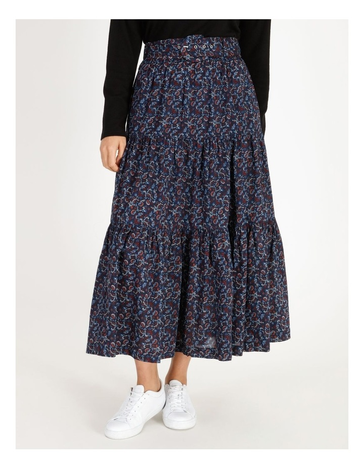 Tiered Belted Skirt image 1