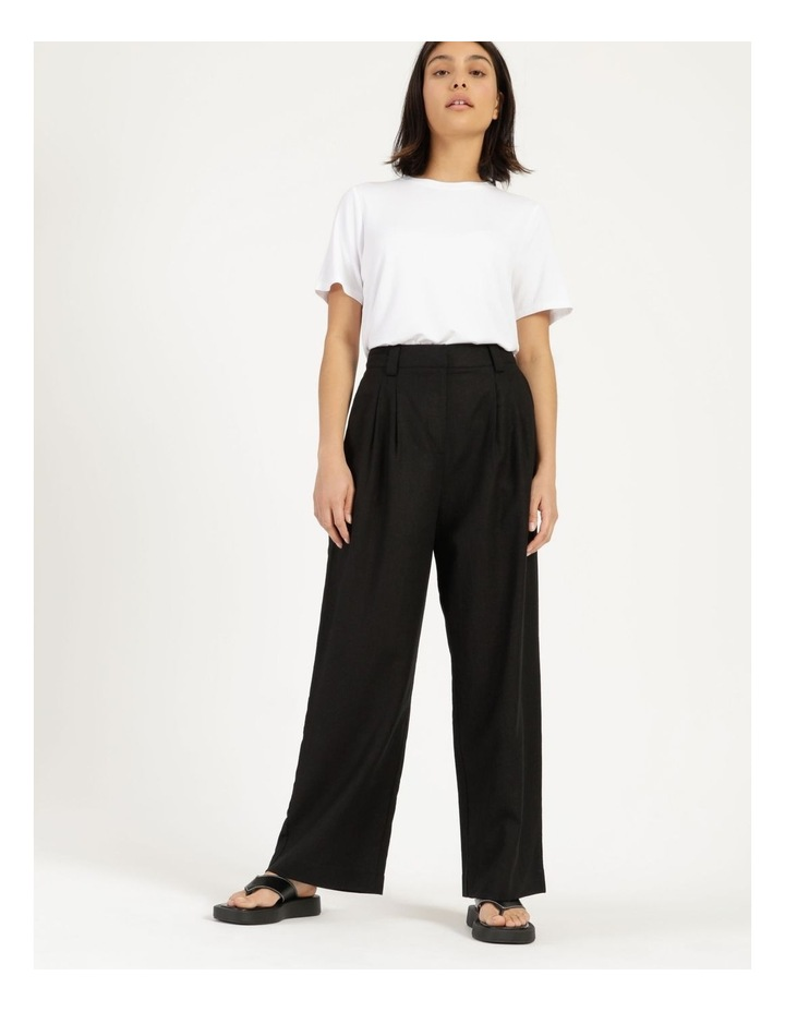 Linen Blend Tailored Pant image 1