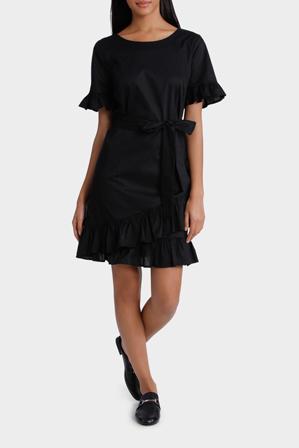 Piper Petites - Dress Ruffle 3/4 Sleeve