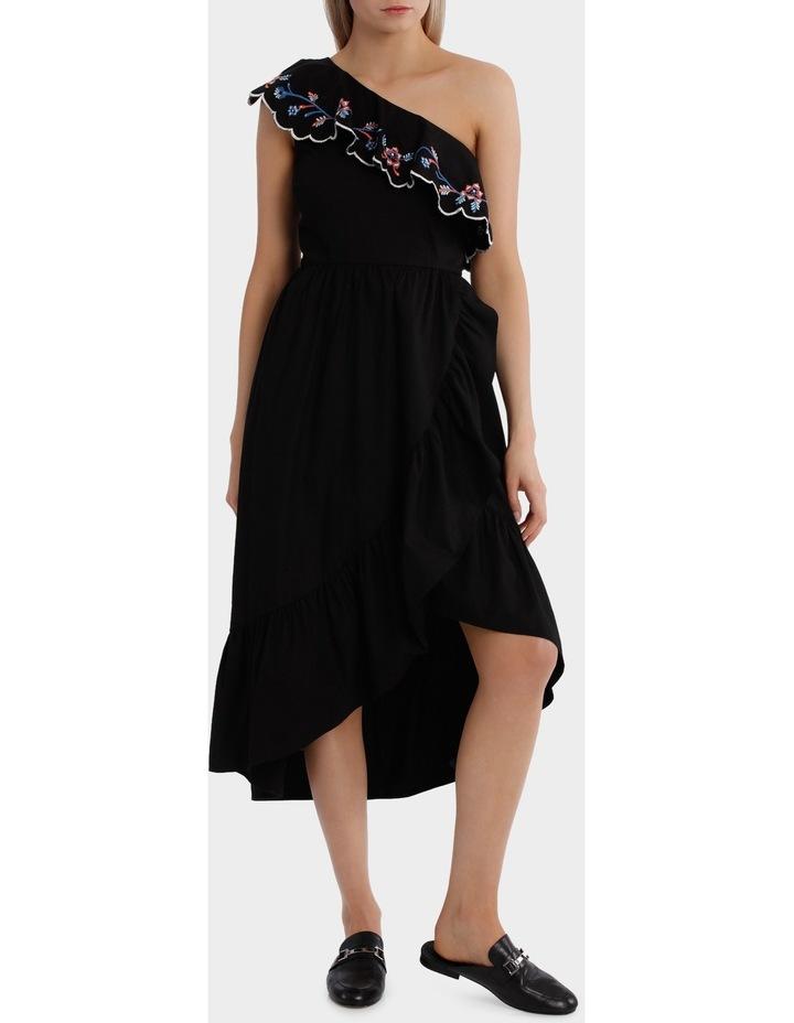One Shoulder Ruffle Dress image 1