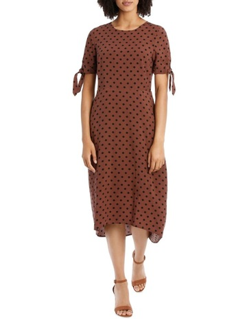 Piper Petites Dress Spot with Tie Sleeve bb55035af