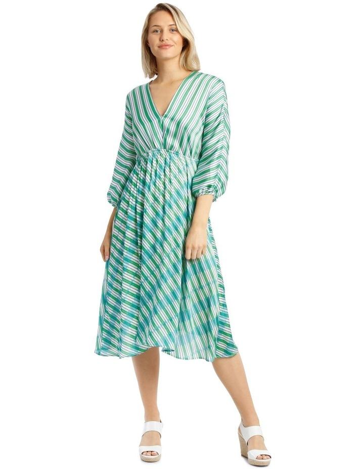 Dress Multi Stripe Bias Cut image 1