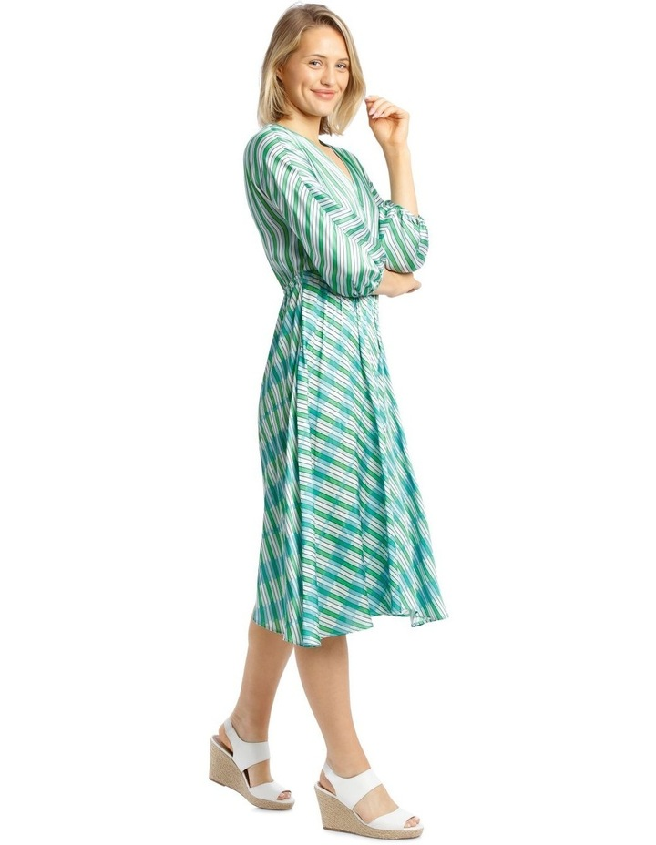 Dress Multi Stripe Bias Cut image 2
