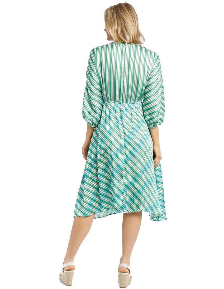 Dress Multi Stripe Bias Cut image 3