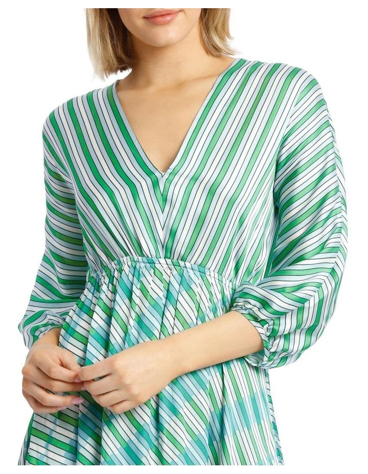 Dress Multi Stripe Bias Cut image 4