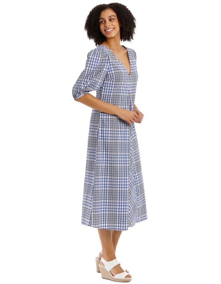 Check Vee Neck Dress image 2