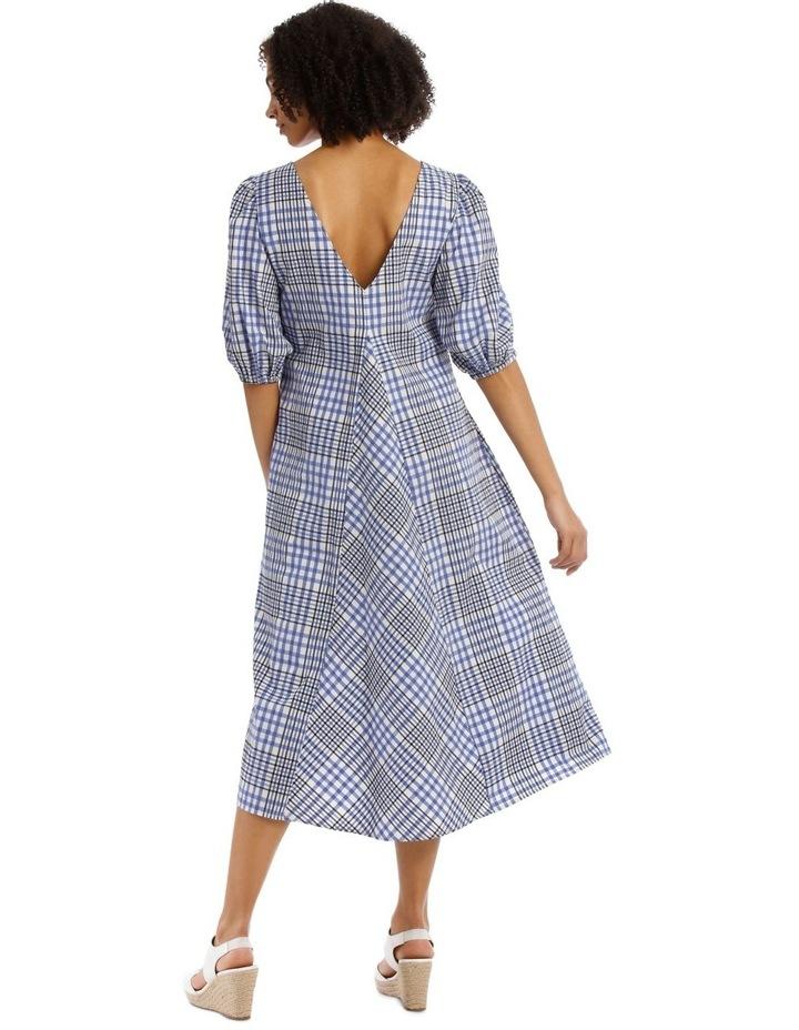 Check Vee Neck Dress image 3
