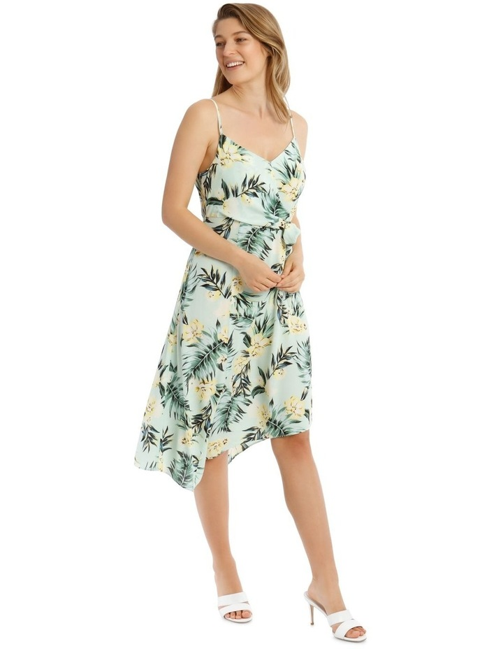 Tropical Palm Dress with Tie Detail image 2