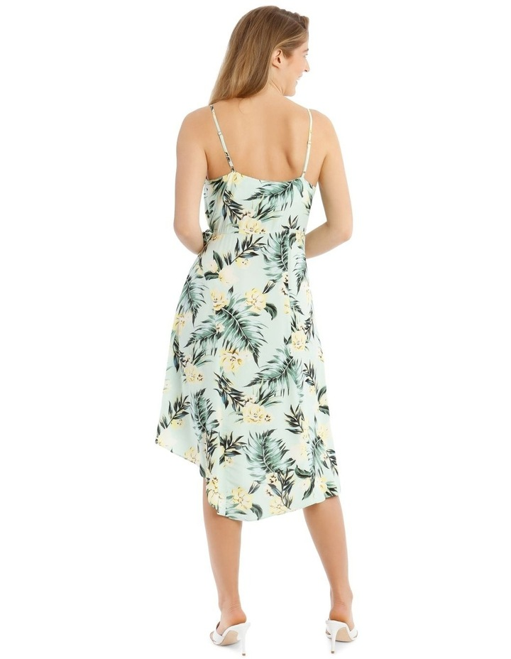 Tropical Palm Dress with Tie Detail image 3