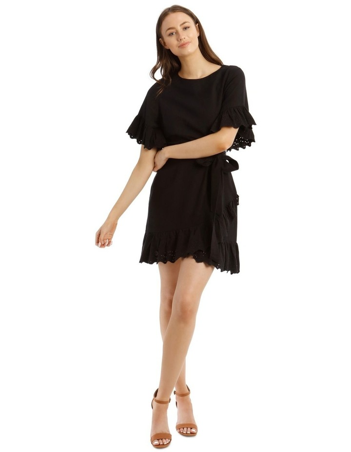 Wrap Dress with Broderie Sleeves image 1