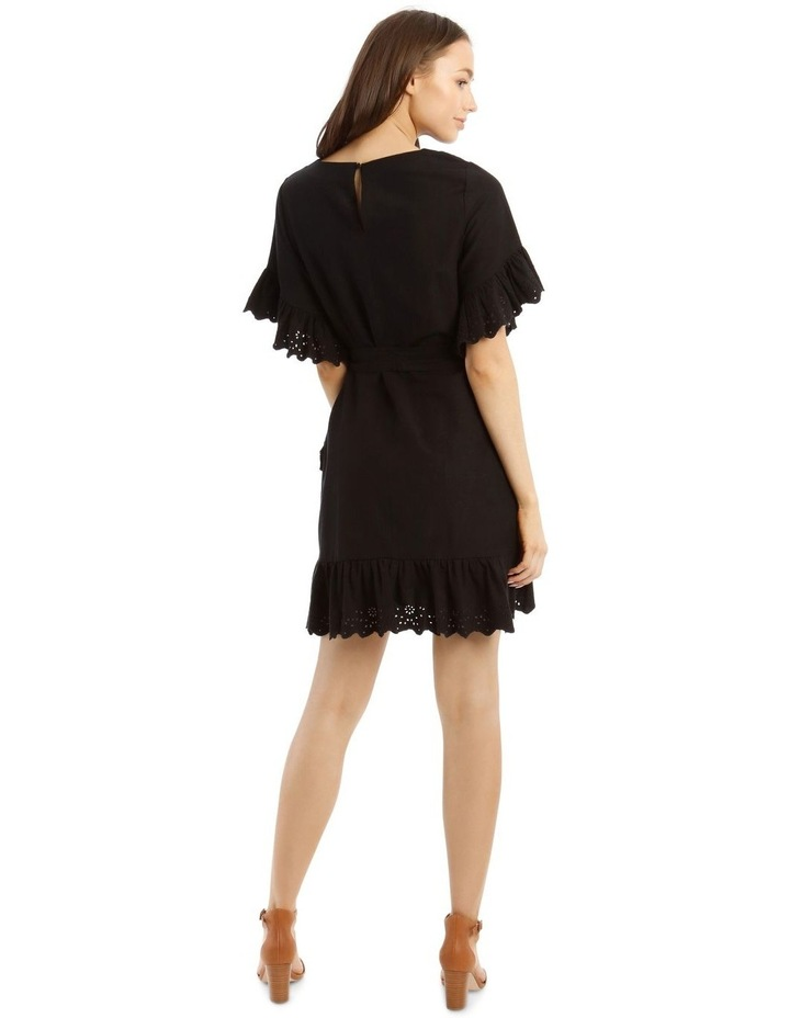 Wrap Dress with Broderie Sleeves image 3