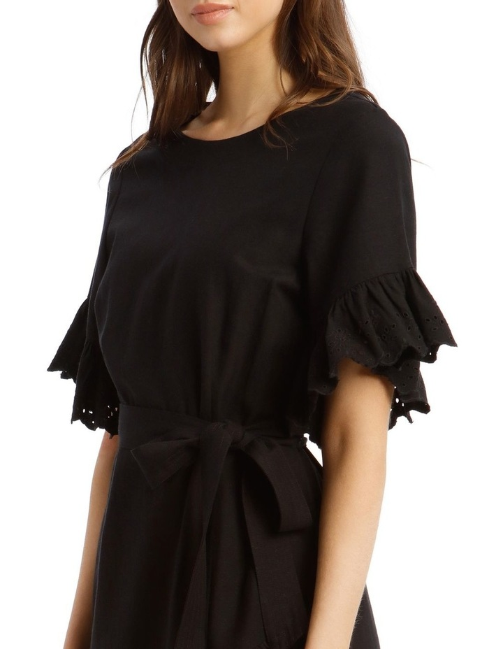 Wrap Dress with Broderie Sleeves image 4