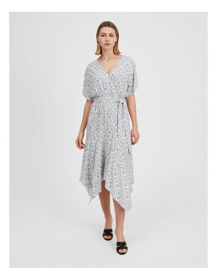 Asymmetric Midi Wrap Dress image 1