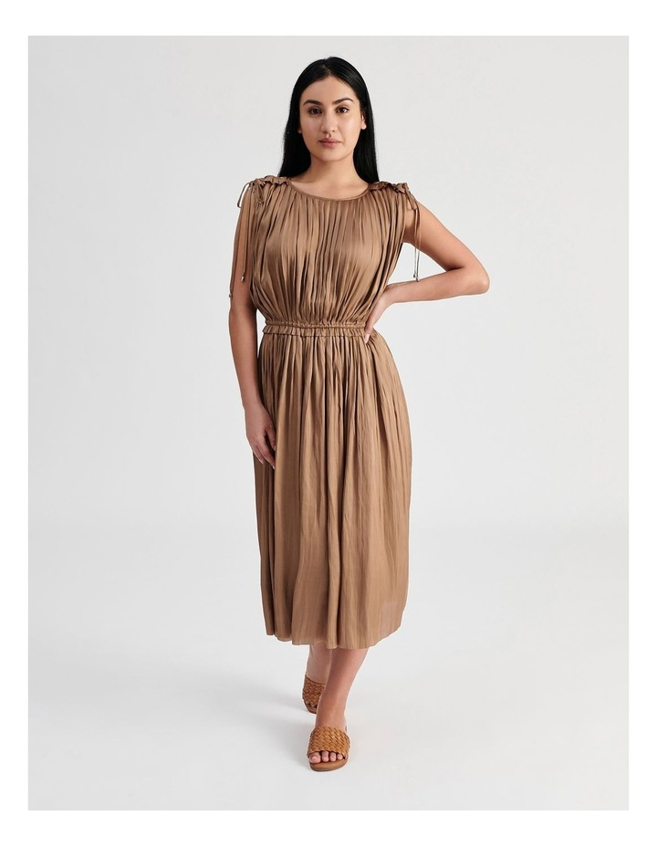 Shoulder Tie Pleat Dress image 1