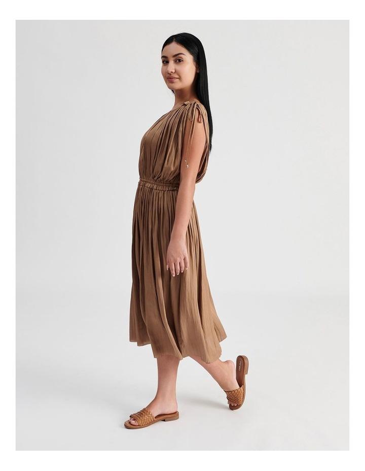 Shoulder Tie Pleat Dress image 2