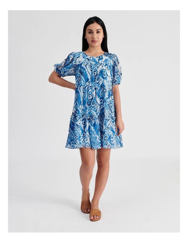 Tiered Babydoll Dress Ikat Print image 1