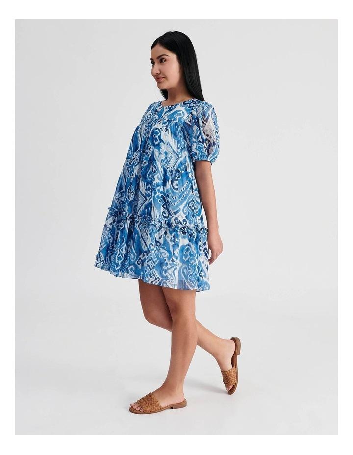 Tiered Babydoll Dress Ikat Print image 2