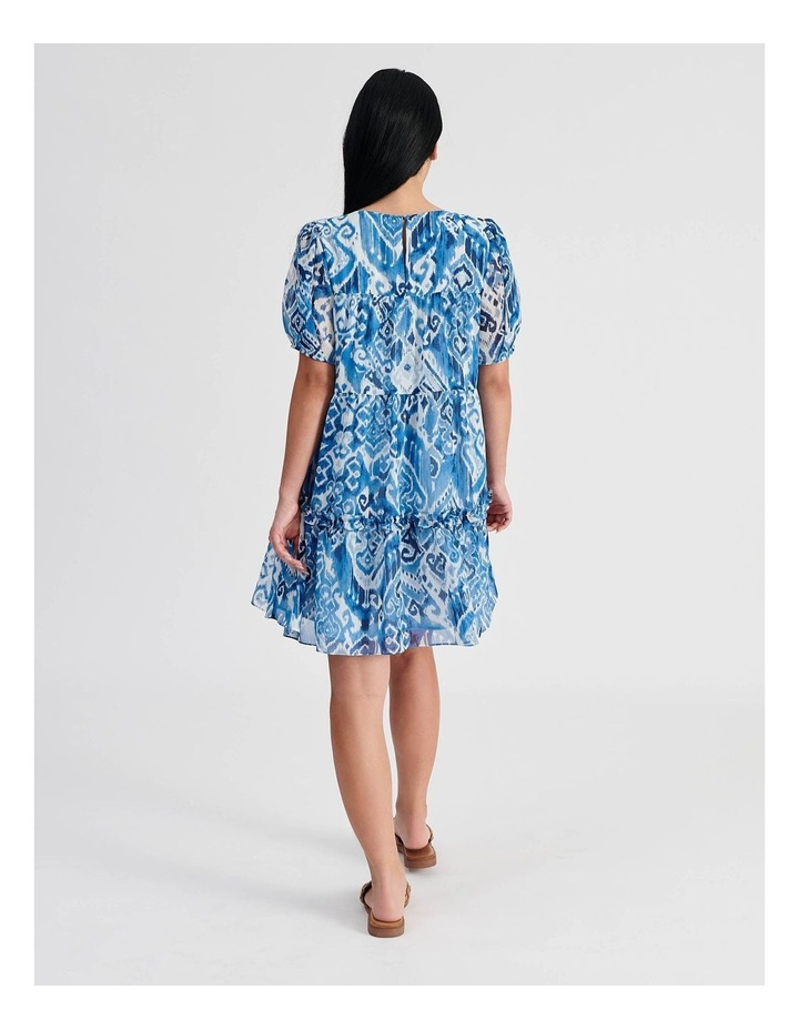 Tiered Babydoll Dress Ikat Print image 3