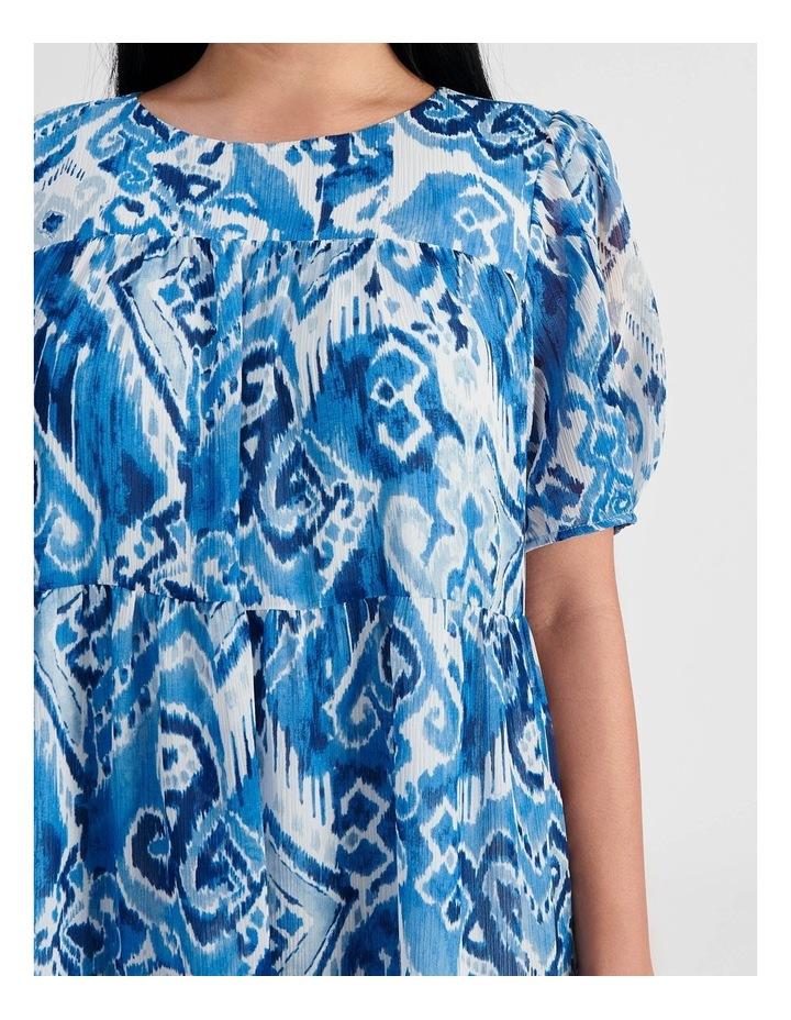 Tiered Babydoll Dress Ikat Print image 4