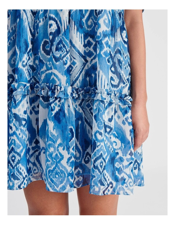 Tiered Babydoll Dress Ikat Print image 5
