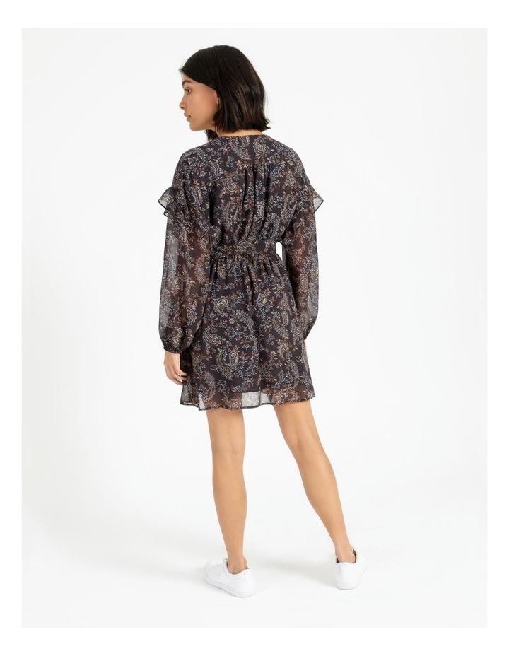 Ditsy Long Sleeve Mini Dress image 4