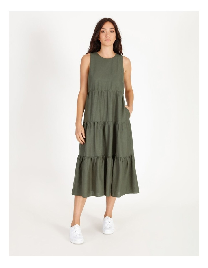 Linen Tiered Dress image 1
