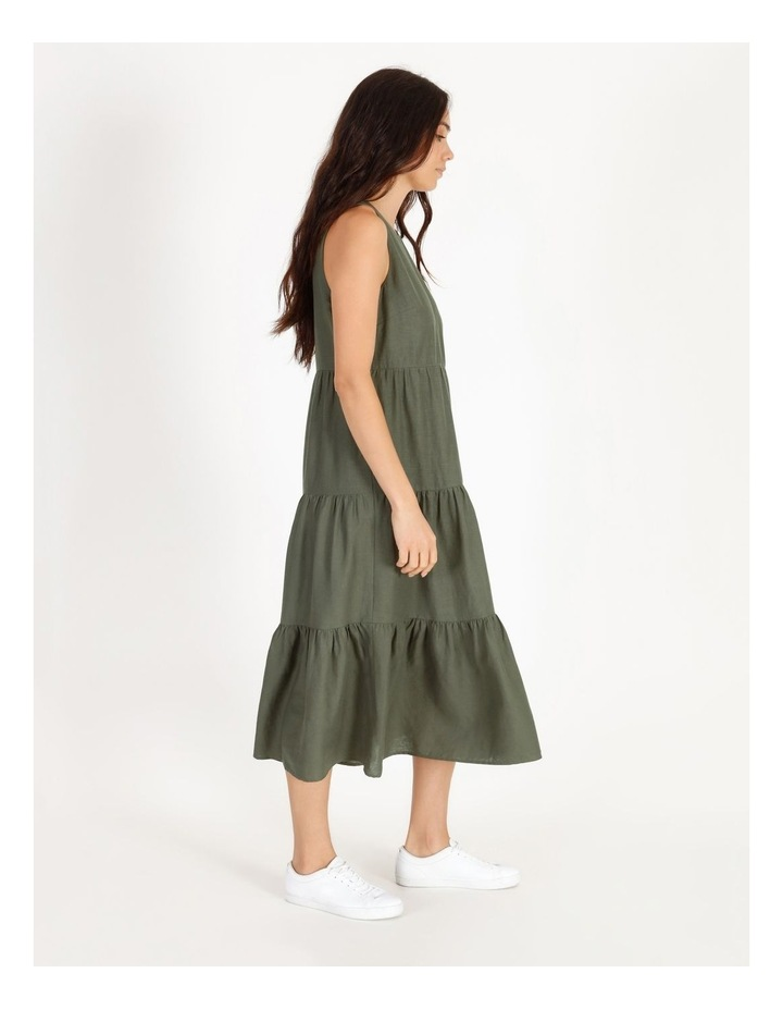 Linen Tiered Dress image 2
