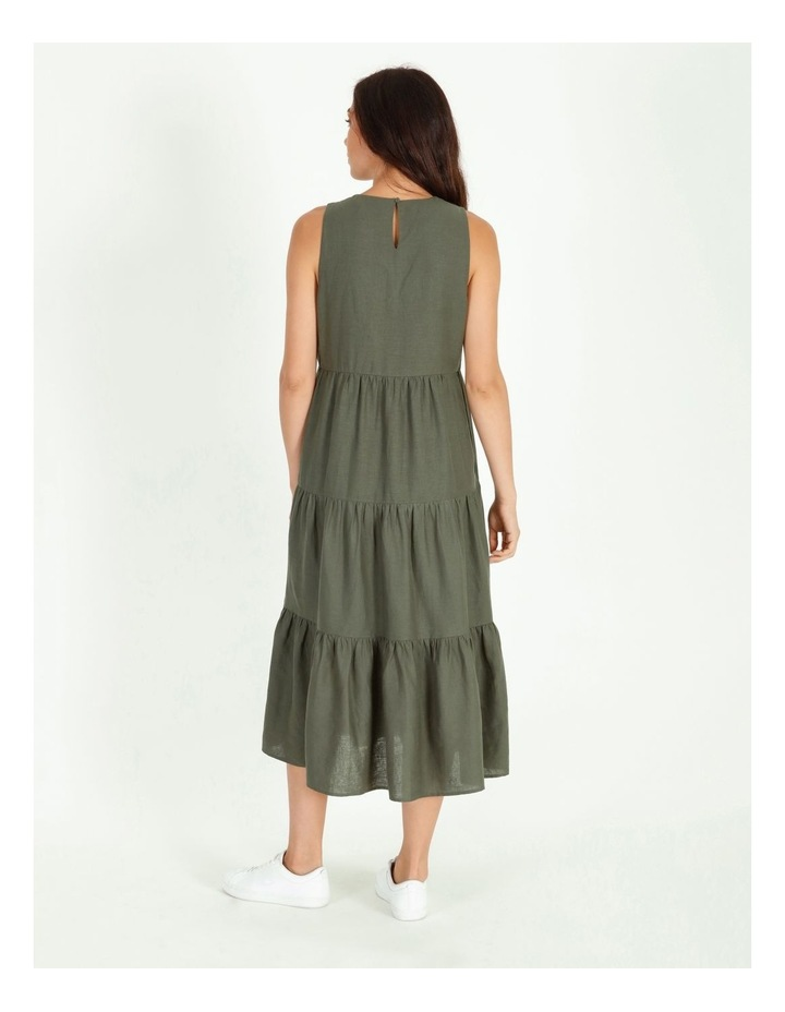 Linen Tiered Dress image 3