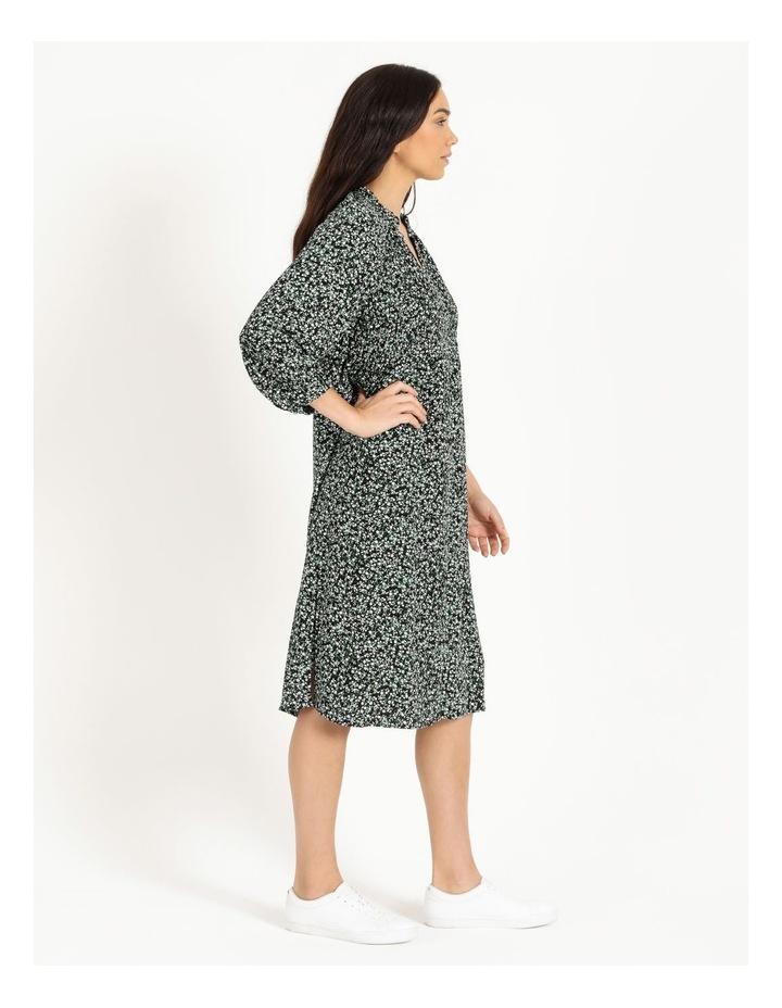 Shirred Bodice Midi Dress image 3