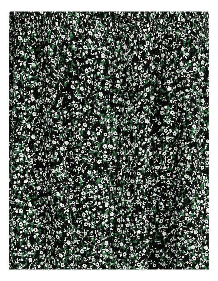 Shirred Bodice Midi Dress image 7